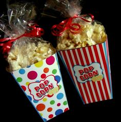 INSTANT DOWNLOAD  Printable POPcorn Boxes - Circus Theme by PartyPrintz.etsy.com