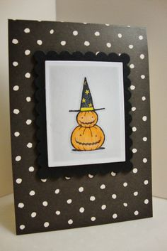 I love making Halloween cards!