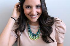 DIY Tiered Ombre Necklace | Brit + Co. has cute tutorials