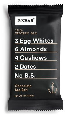 Paleo Snacks Book - RXBAR Whole Food Protein Bar, Chocolate Sea Salt, 1.83 Ounce (Pack of 12) -- See this great product. (This is an affiliate link) #PaleoSnacksBook