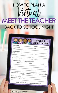 Letter To Teacher, Letter To Parents, Parent Letters, Meet The Teacher Template, Curriculum Night, Back To School Night, Middle School, Student Information, Online Classroom