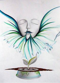 2016 계명대학교 실기대회 수상작/복현 창조의 아침 : 네이버 블로그 Save Earth Drawing, Earth Drawings, Mother Earth, Rooster, Gallery, Painting, Animals, Water, World