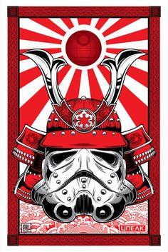 "(via ""Samurai Stormtrooper"" by Randy Adlawan – Hero Complex Gallery)"