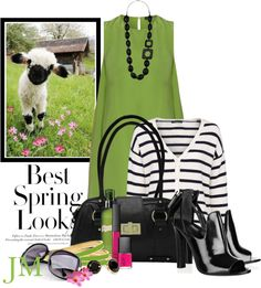 """""""Springtime in the """"Lime"""" light goes POP!"""" by jenniemitchell ❤ liked on Polyvore"""