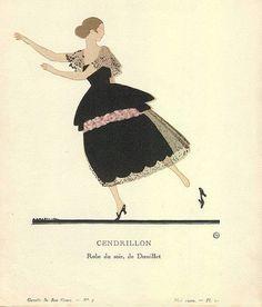 Andre Edouard Marty - Cendrillon - Robe du soir de Doeuillet - 1920