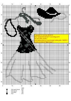 0 point de croix robe blanc noir - cross stitch black and white dress Cross Stitch Needles, Cross Stitch Charts, Cross Stitch Patterns, Plastic Canvas Crafts, Plastic Canvas Patterns, Cross Stitching, Cross Stitch Embroidery, Crochet Cross, Clothes Crafts