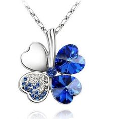 Women Vintage Fashion Jewelry Heart Crystal from Swarovski Four Leaf Clover Necklace Pendants White Gold Plated 2016 Trendy 201 Heart Pendant Necklace, Crystal Necklace, Pendant Jewelry, Jewelry Sets, Jewelry Necklaces, Jewelry Watches, Necklace Chain, Heart Necklaces, Costume Necklaces