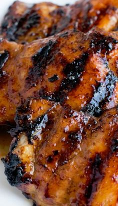 Sticky Honey Lime Grilled Chicken Recipe ~ Says: It was finger lickin', lip smackin' good. Like really, you need to make this.