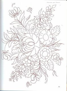 L'art de la peinture paysanne - Maica Dos - Álbumes web de Picasa Embroidery Flowers Pattern, Crewel Embroidery, Ribbon Embroidery, Flower Patterns, Embroidery Designs, Wood Patterns, Folk Art Flowers, Flower Art, Flower Fairies