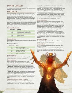 Dungeons And Dragons Classes, Dungeons And Dragons Homebrew, Cleric Domains, Dnd Sorcerer, Dnd Cleric, D D Races, Dnd Classes, Praise The Sun, Dnd 5e Homebrew