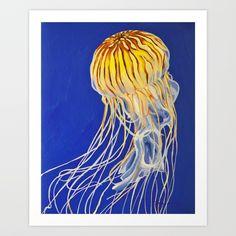Northern Sea Nettle 3 Art Print