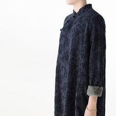 Thicken cashmere buckle texture flok robe #dress #linendress #linen #loosedress #robes  #winterdress #maxi