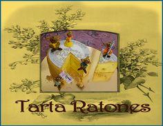 Tarta Ratones. http://ljardindelasdelicias.blogspot.com.es/2013/10/tartas.html