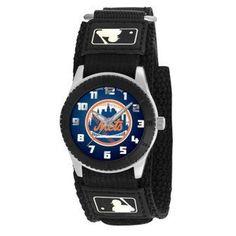"Game Time Unisex MLB-ROB-NYM ""Rookie Black"" Watch - New York Mets"