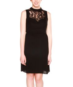Look at this Black Lace Dress on #zulily today!