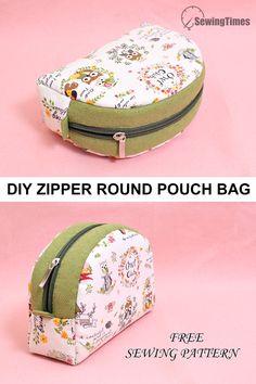 Bag Pattern Free, Pouch Pattern, Bag Patterns To Sew, Sewing Patterns Free, Sewing Tutorials, Diy Wallet Pattern Free, Pattern Sewing, Free Sewing, Makeup Bag Pattern