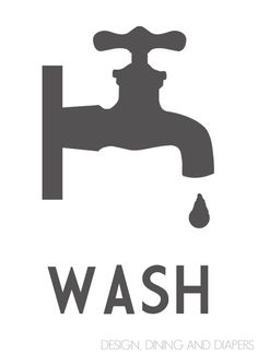 Wash Graphic_Gray - Free Printable, multiple colors