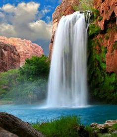 outdoor nature and waterYou can find Romance books and more on our website.outdoor nature and water Havasupai Waterfalls, Havasupai Falls, Arches Nationalpark, Yellowstone Nationalpark, Les Cascades, North Cascades, Beautiful Waterfalls, Beautiful Landscapes, Photos Voyages