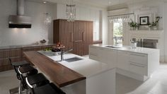 Modern History Kitchen Cabinets by Wood-Mode Fine Custom Cabinery - Large