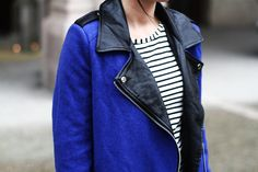 Electric blue and stripes