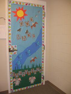 door bulletin board - God Made Everything