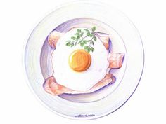 Colored Pencil Drawings of Japanese Food (Vol.01) - Colored Pencil Drawings of Foods Wallpaper   20