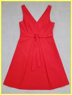 4c404996c6fa2 Theory Red Nabila Stretch Cotton Sleeveless V-neck A-line Pleated Short  Cocktail Dress. Tradesy
