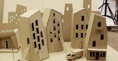 Cardboard city for m - Cardboard city for movie by kefir_junkie via Flickr --- #Theaterkompass #Theater #Theatre #Puppen #Marionette #Handpuppen #Stockpuppen #Puppenspieler #Puppenspiel