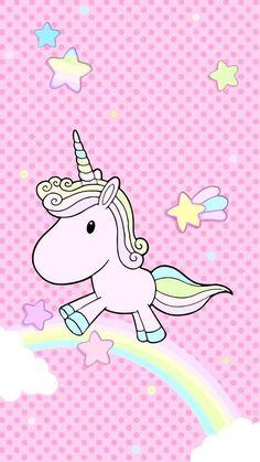 Magical Unicorn, Cute Unicorn, Rainbow Unicorn, Unicorn Party, Unicorn Wallpaper Cute, Cute Wallpaper For Phone, Kawaii Wallpaper, Cool Backgrounds, Wallpaper Backgrounds