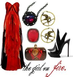 """The Girl on Fire"" by princesschandler ❤ liked on Polyvore"