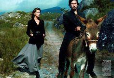 Daria Werbowy & Adam Driver by Annie Leibovitz for Vogue US September 2013