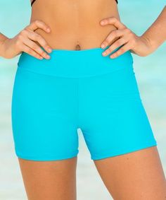 Look what I found on #zulily! Turquoise Tummy Tuk High-Waist Boyshort Bikini Bottoms - Women & Plus #zulilyfinds