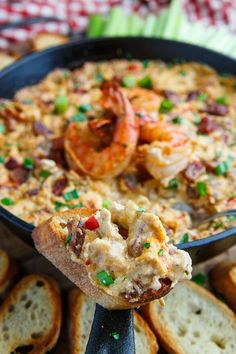 Cajun Shrimp and Andouille Cheese Dip Recipe : A hot melted cheese dip just packed with shrimp and andouille sausage and cajun style flavours! Gumbo Dip, Shrimp Gumbo, Cajun Shrimp, Shrimp Dip, Appetizer Sandwiches, Appetizer Dips, Best Appetizers, Best Dip Recipes, Cheese Dip Recipes