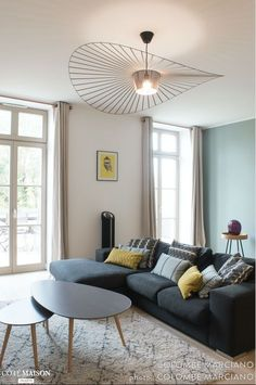 a sleek decor and a Scandinavian look in shades of gray green water and light oak. A beautiful living room very functional and old … - Decoration For Home Home Decor Inspiration, Decor, Interior Design, House Interior, Home, Interior Design Living Room, Interior, Sleek Decor, Beautiful Living Rooms