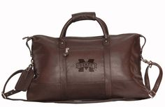 NCAA Mississippi State Bulldogs Falls Canyon Cabin Leather Duffel Bag: The NCAA Mississippi… #SportingGoods #SportsJerseys #SportsEquipment