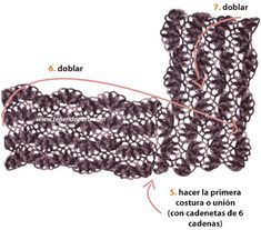 Cómo tejer un poncho en horquilla y dos agujas (hairpin lace poncho tutorial)