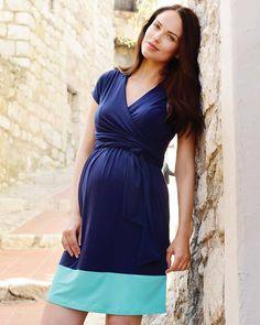 Seraphine Enja - Abito Premaman e Allattamento Blocchi di Colore - Blu    Azzurro Vestiti a852570afbb