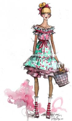 A thing of beauty is a joy for ever: Amazing Inspirations/Fashion Illustrations:Kathryn Elyse Rodgers