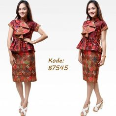 more fashionable to the office with this amazing blouse batik