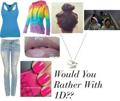 """""""Would You Rather With 1D ?!"""" by ashleyassanah ❤ liked on Polyvore"""