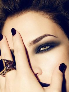 beautiful eyes, eyebrows,nails