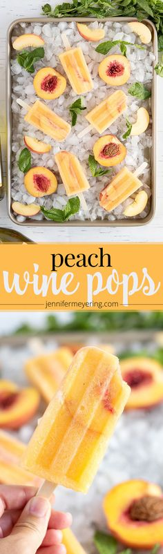 Peach Wine Pops - Je