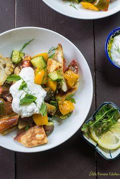 Heirloom Tomato Fattoush Salad via LIttleFerraroKitchen.com by FerraroKitchen1, via Flickr
