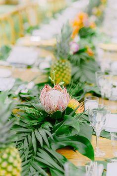 Tropical Inspired Elegant Island Wedding