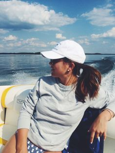 Boat ride sweater, cap/hat, and bikini