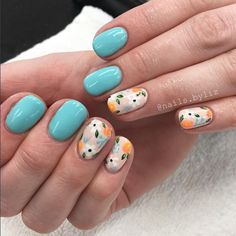 Super Cute Nails, Pretty Nails, Watermelon Nails, Magic Nails, Gelish Nails, Sexy Nails, Diy Nail Designs, Flower Nails, Natural Nails
