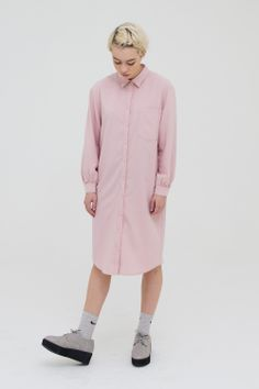 Oversized Shirt Dress Pink http://www.thewhitepepper.com/collections/dresses/products/oversized-shirt-dress-pink