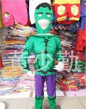 New 2015 Christmas Halloween costumes children Marvel Comics muscle Hulk suit kids Cosplay Costume boys girls Sets gift clothes(China (Mainland))