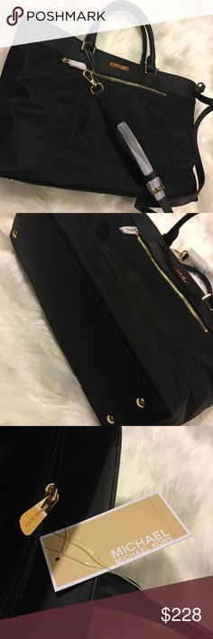 3bc0883ae32a Michael Kors Colgate Black Large Tote This is a gorgeous classy black Michael  Kors