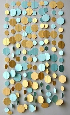 The most beautiful DIY decoration ideas for the perfect wedding photo background - DIY wedding photo background – paper garland - Bridal Shower Decorations, Birthday Decorations, Wedding Decorations, Polka Dot Decorations, Wedding Garlands, Gold Decorations, Hanukkah Decorations, Festa Party, Diy Party